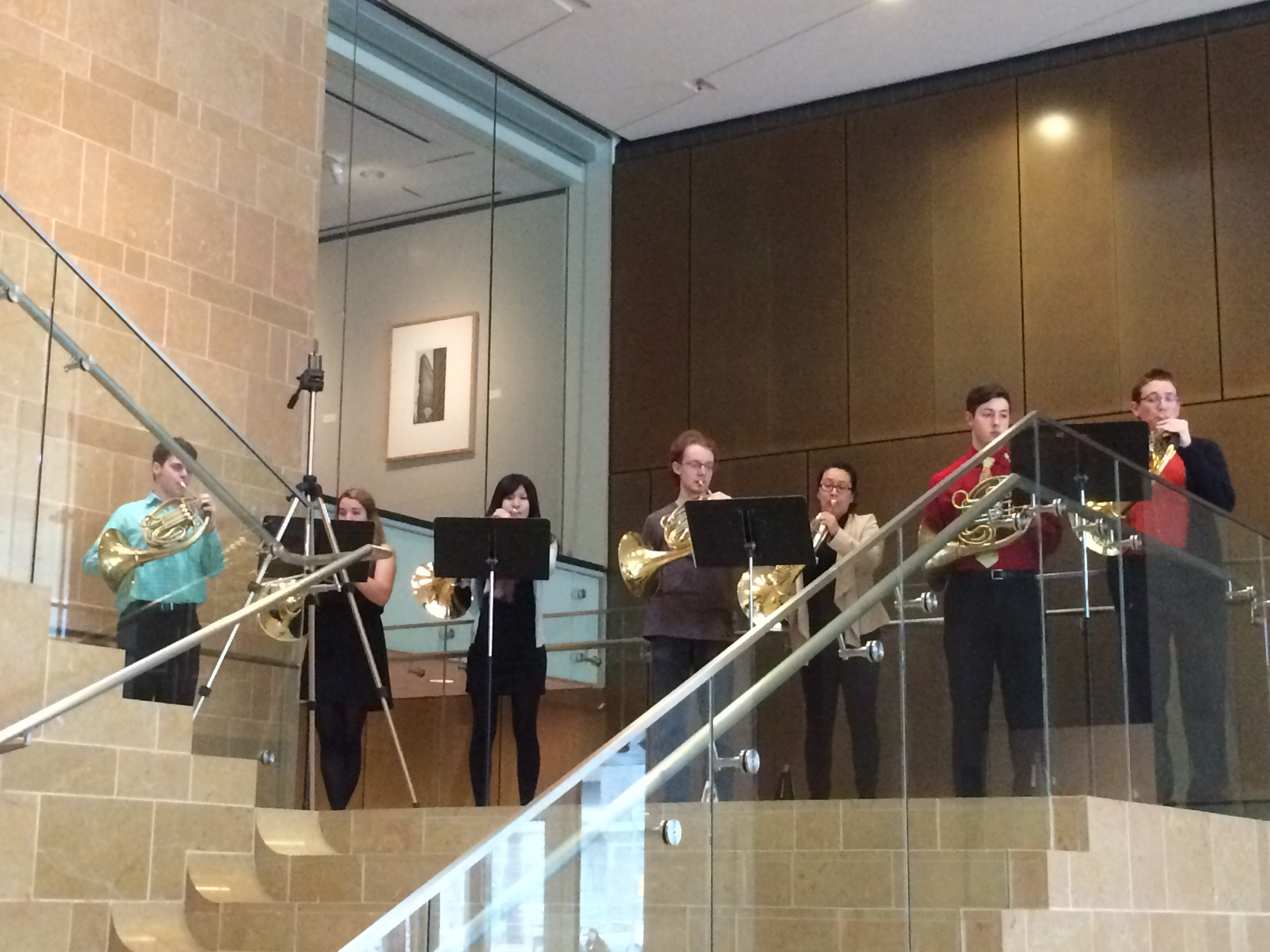 Horn Choir in performance
